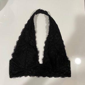 Other - Black lace halter bralette